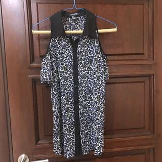 Forever 21 Leopard blouse