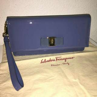 100% Real Salvatore Ferragamo Clutch