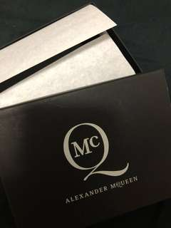 Alexander McQueen Folding Wallet Made in Italy not sneakers