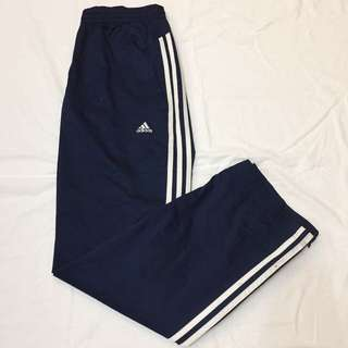 日本帶回 二手 Adidas 運動長褲 運動褲 風褲 拉鍊式