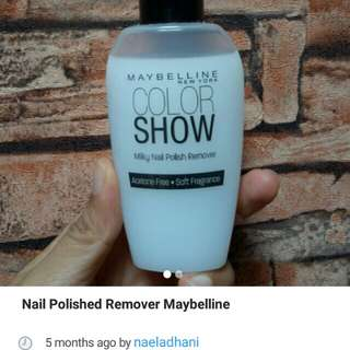 FREE Nail Remover Maybelline