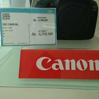 Kredit kamera eos 1300D/BL cukup bayar adm