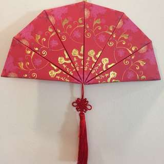 CNY RedPocket Fan HandMade