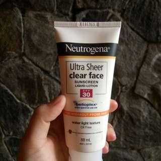 Neutrogena Ultra Sheer Clear Face for Breakout Prone Skin