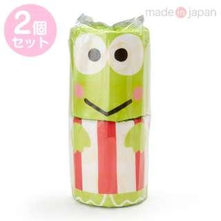 Japan Sanrio Keroppi Roll Toilet Tissue 2 Piece Set