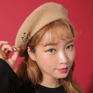 Korea💛New Beret Hat with rings