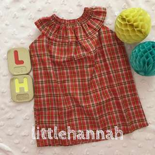 🏝Instock - Checkered Clown Neck Dress or Tops (6-36m)