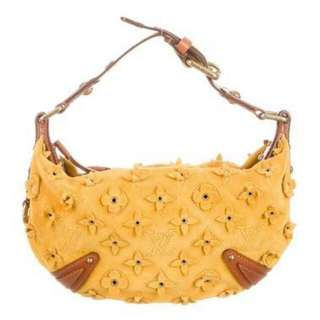 Louis Vuitton Limited Edition Yellow Suede Onatah Fleurs PM Hobo Bag