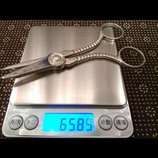 "US Antique Sterling Silver 1870-1899 Scissors Gorham ""Last Quarter 19th Century (19世纪末期)"" 65.89g, 13.9cm length, 古董純銀剪刀/較剪 精工銀器 (in good condition) www.925-1000.com/Gorham_Date_Code.html"