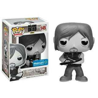 Funko Pop Walking Dead Daryl Dixon Walmart Black and White BW