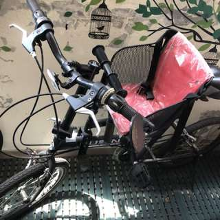 Fusin黑色親子腳踏車