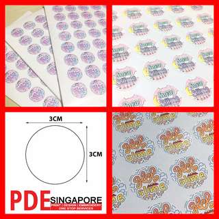 200 pieces 3cm Round sticker label