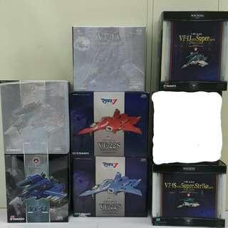 全新共7盒超時空要塞macross(非mg,rg,pg,hg,fix,gundam,龍珠,超合金魂,robot魂)