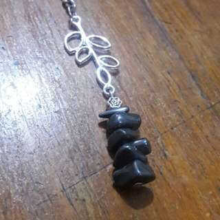 Hematite gemstone chips keychain (bag charm)