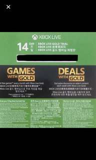 Cheap Xbox Live 14 days