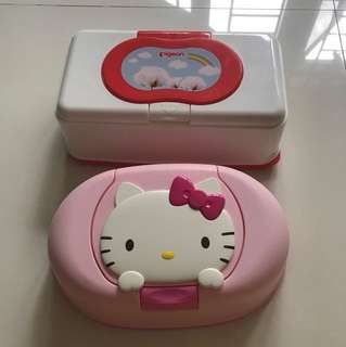 Pigeon (Sold) & Hello Kitty Wet Wipes Case