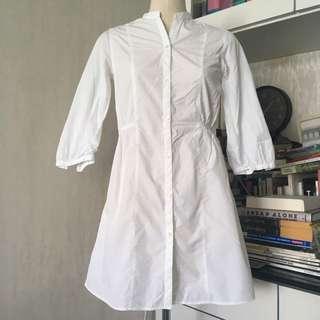 Muji White Shirt Dress / Long Top