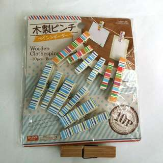 Colourful Wooden Clothespins