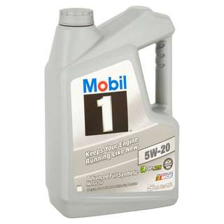 Mobil 1 5W20 Advanced Fully Synthetic Motor Oil 5 Quarts
