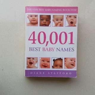 40001 Best Baby Names