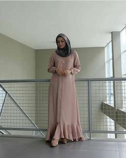 WDD - 0318 - Dress Gamis Busana Muslim Laura Maxy
