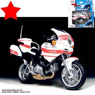 DUCATI 1000ds Police 1:18 Maisto (approx 4.5 inch in length)