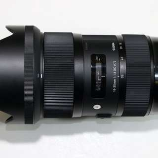 For Sale Sigma 18-35mm f1.8 ART lense for Canon.
