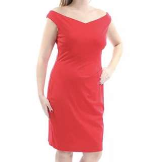 New Ralph lauren red V neck dress - Fits L XL XXL Uk14 Uk16 UK18 US12 US14 US16 Plus Size