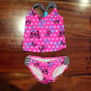 Adorable Butterfly & Stripes 2 pc Swimsuit