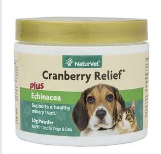 【預訂】NaturVet Cranberry Relief™ Powder 消炎, 防止尿道感染粉 50mg