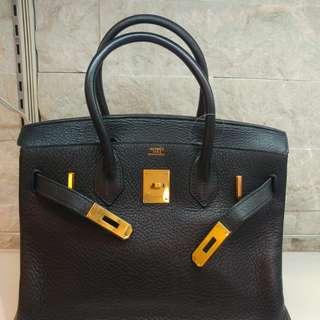 Hermes birkin 30 in black ghw