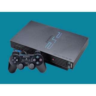 Sony ps2 playstation 2 fat komplit hardisk