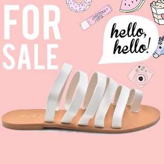 Victoria Women's Korean Flat Sandals (White)