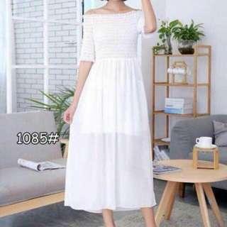 Korean offshoulder dress