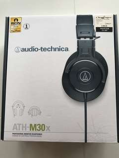Audio Technica Headphone ATH - M30x (Black)