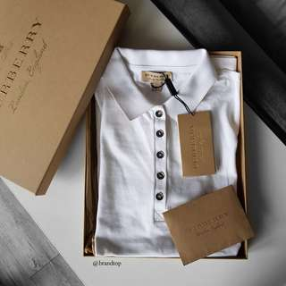 Authentic Burberry White Polo-T Shirt