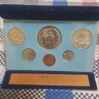 1982 SINGAPORE MINT SET, 27TH OCT 1982 LOS ANGELES AGENCY OFFICIAL OPENING OF DBS BANK, RARE