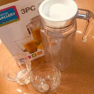 Pitcher & Glassware Set (3-pc)