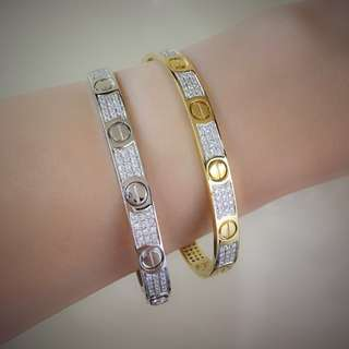 Made in Italy Cartier Full Studed Diamonds Bangle