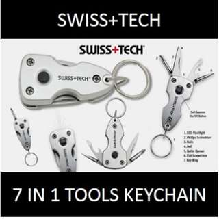 ★[NEW] SALE★ Swiss+Tech 7-in-1 Key Ring Multi-Tool: Handy and Useful Tools in The Palm of Your Hand.