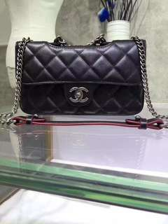 Chanel 孟買系列,最新進口羊皮,配復古銀五金,size:26.5cm