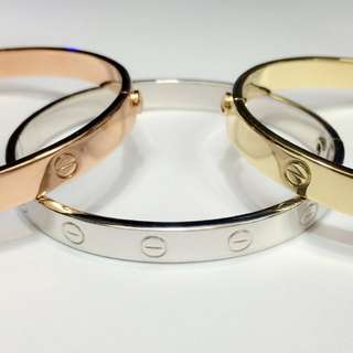 14K Made in Italy Cartier Bangle