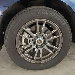 15 Inch Rims wif tyres