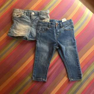 Zara jeans and shorts