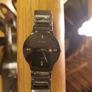 Rado black chained watch for sale!