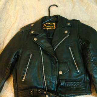 Superior small childs leather jacket