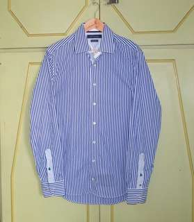 Authentic Tommy Hilfiger Striped Button Down Shirt