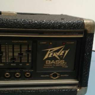 Powerful PEAVEY BASS amplifier. Mark IV series (800 watts) with Equalization & other special features. Awesome tone n power. Made in U.S.A. Pls feel free to test it in my studio.