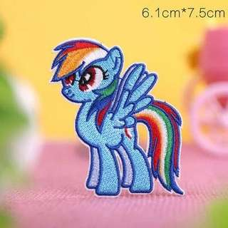 Little Pony Iron On Patches ( Little Girls Fav)