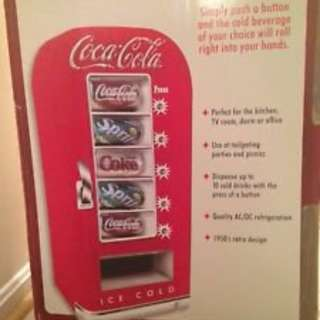 Coca Cola 10-Can Retro Vending Fridge